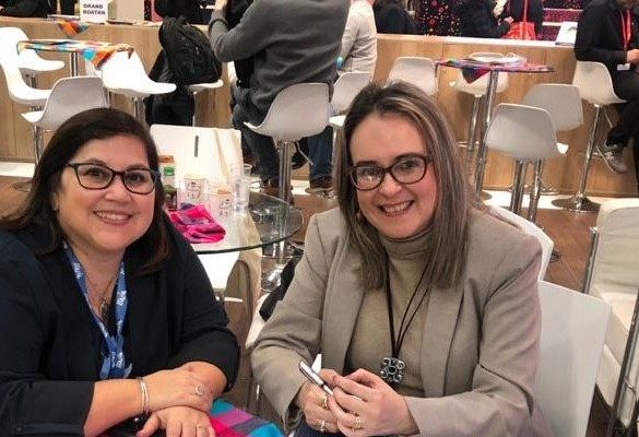 Veronica Gomez, Director of ISTO Americas with Tatiana Siercke, Director of Institutional Management and International Relations of the Honduran Tourism Institute, Honduras.  FITUR 2020