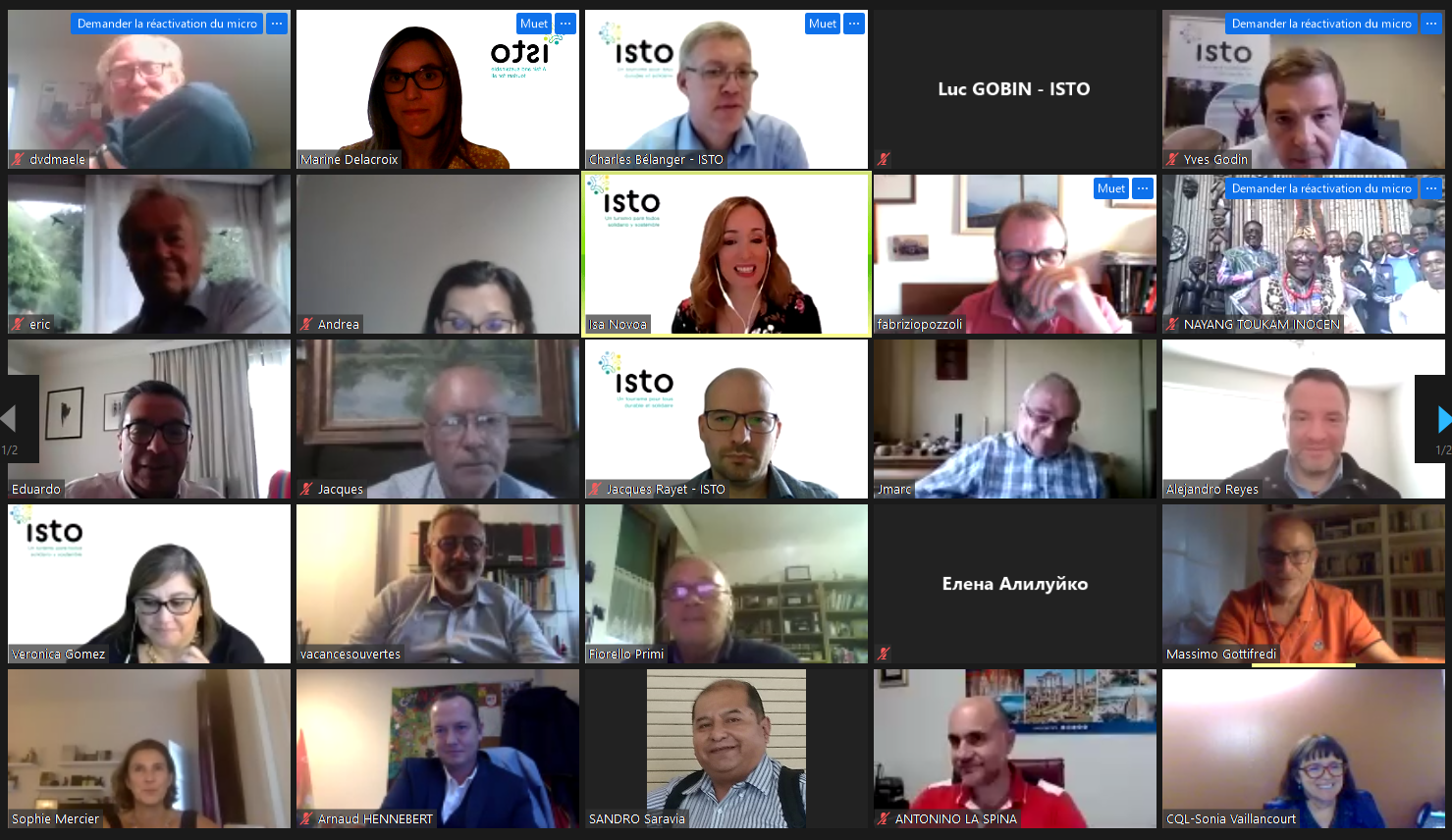 Five new Board members elected during ISTO's virtual General Assembly